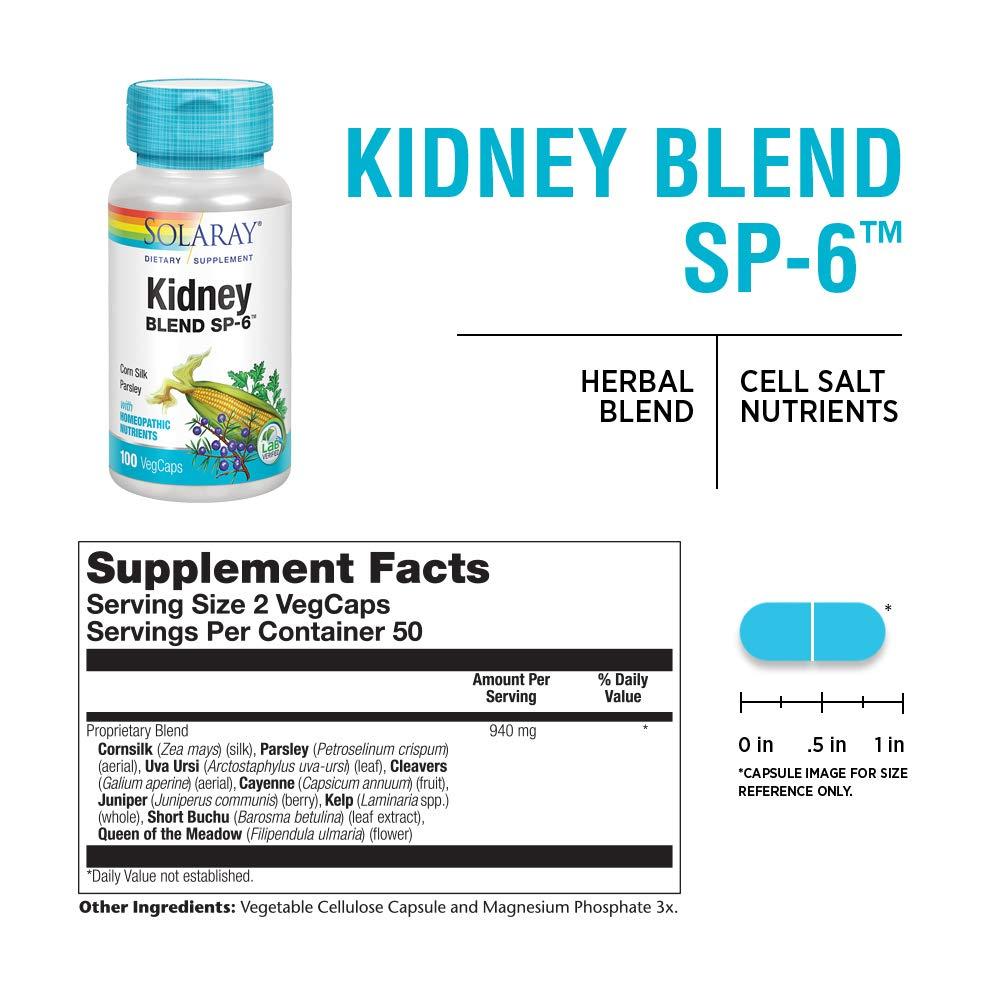 Solaray Kidney Blend SP-6, 100 Count