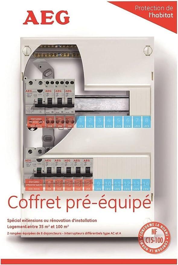 AEG AUN078215 Tabelle 2 Inter Differential 8 Leistungsschalter Für Eine  Wohnung Inferieur Bis 35 M: Amazon.de: Baumarkt