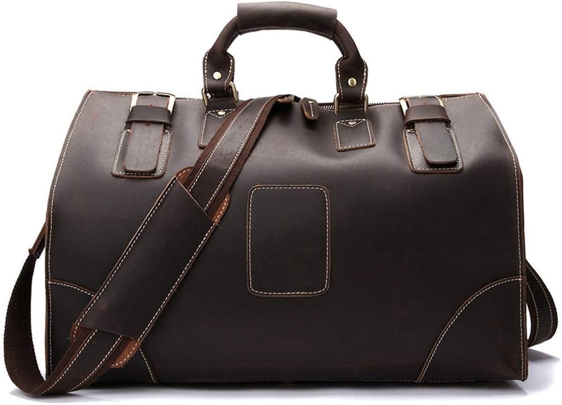 Bolsa de viaje de cuero grande del bolso de la capacidad de los 2020 hombres nuevos, hombres con estilo bolso plegable, impermeable y resistente al desgaste, adecuado for viajes de negocios gimnasio