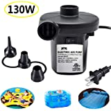 ONG NAMO Electric Air Pump for Inflatables, Quick Air Pump with 3 Nozzles for Air Mattresses Beds Boats Swimming Ring Inflatable Pool Toys 110V AC (130W)