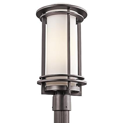 Amazon.com : Kichler 49349AZ, Pacific Edge Cast Aluminum Outdoor Post  Lighting, 150 Watts, Architectural Bronze : Outdoor Post Lights : Garden U0026  Outdoor