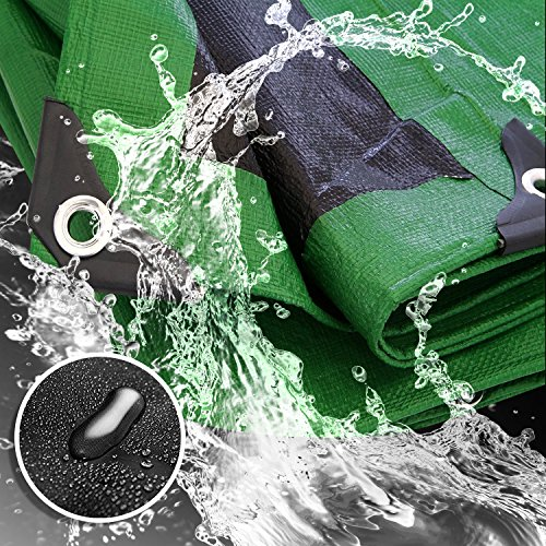 Trademark Supplies Heavy Duty Thick Material Waterproof Tarp Cover, 12X20-Feet, (20' Black Material)