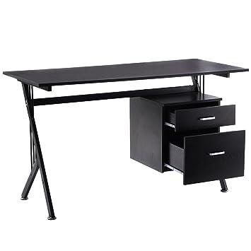 tangkula k frame wood laptop writing table computer desk workstation home office black black home office laptop