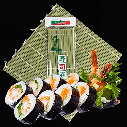 WEIWANA Sushi Mould Green Bamboo Roller Blind 24x24 Multifunction Durable Kitchenware