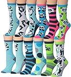 Tipi Toe Womens Fashion Novelty Animal Characters Cartoon Cat Panda Penguin Crew Socks