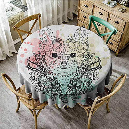 - Rank-T Spots Round Table Cloth 50