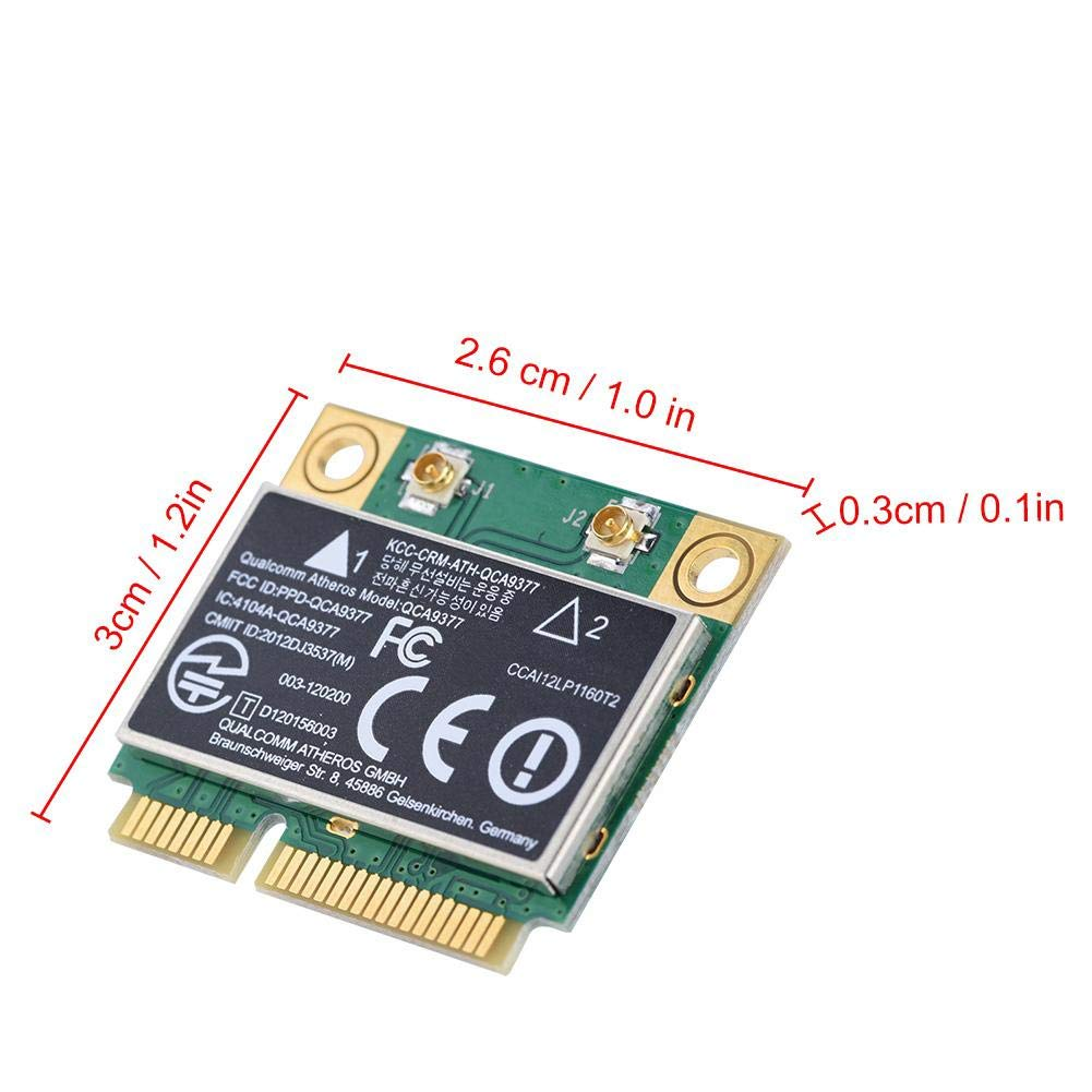 Acogedor Dual Band 2.4G/5Ghz Network Card, 433Mbps WiFi Wireless Card-PCI-E Interface,Compatible for Windows 7/10-Desktop, Laptop, Industrial Control ...