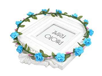 Bohemian Paper Flower Leaf Hair Garland Wreath Accessory Floral Halo  Headpiece Headband Rustic Theme Wedding Headdress 9844e5d09a88