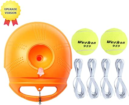DE Solo Tennis Training Tool Tennisball Selbststudium Rebound Ball Tennistrainer