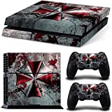 GoldenDeal PS4 Console and DualShock 4 Controller Skin Set - Umbrella Zombie Videogame - PlayStation 4 Vinyl