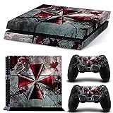 Video Games - FriendlyTomato PS4 Console and DualShock 4 Controller Skin Set - Umbrella Zombie Videogame - PlayStation 4 Vinyl