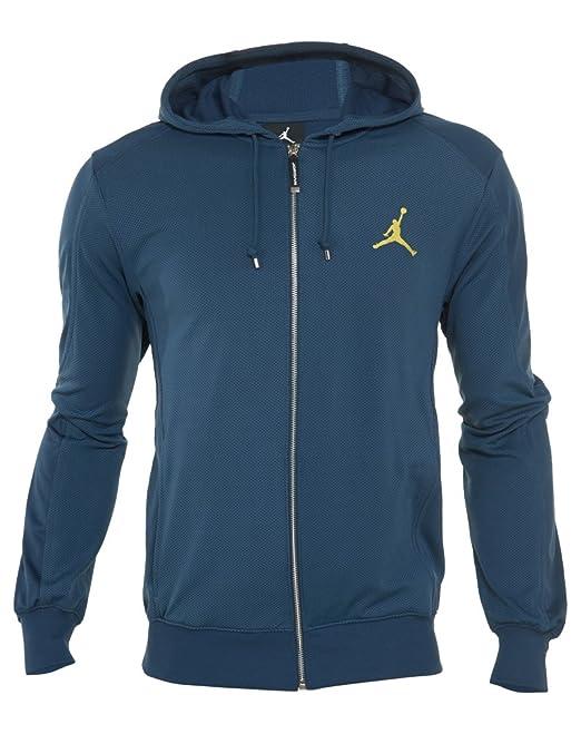 Jordan Sudadera con Capucha para Hombre Nike Air 13 Retro Full-Zip con Capucha 519610 - 425 Squadron Blue S: Amazon.es: Deportes y aire libre
