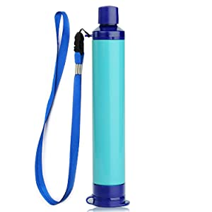 Membrane Solutions Personal Water Filter Straw Survival Filtration Portable Gear Emergency Preparedness Supply for Drinking Hiking Camping Travel Hunting Fishing