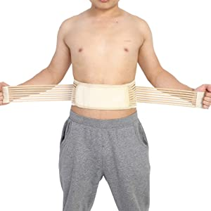 Zerone Self-Heating Lumbar Back Support Belt, Anti Fatigue Spine Injury Prevention Back Waist Brace Belt Band Support Protector, Pain & Discomfort Relief from Slipped Disc, Backache, Sciatica