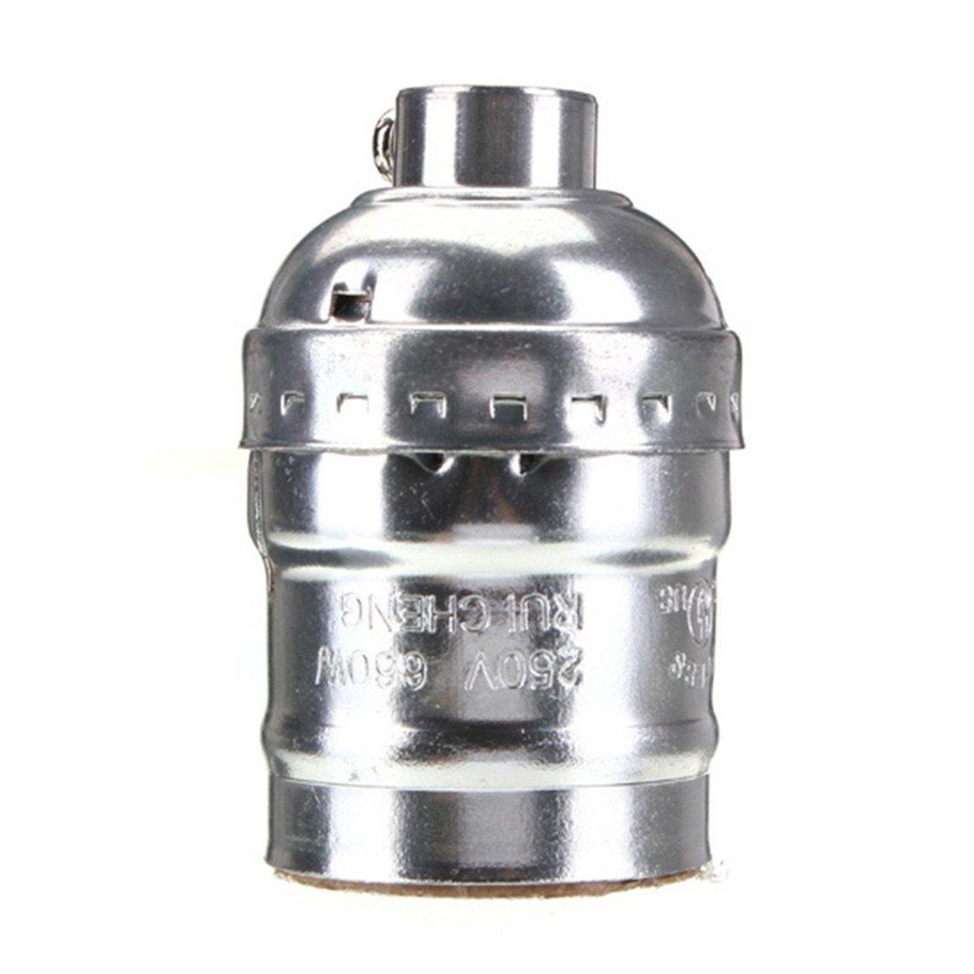 Lustre Lamp - TOOGOO(R)Titulaire E27 Adaptateur de Douille Edison Retro Pendant Lamp sans interrupteur 110-220V D'or