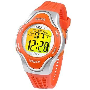 disponibilità nel Regno Unito foto ufficiali consegna veloce Ragazzi Orologi Digitali, orologio da Polso Impermeabile con 12 ...