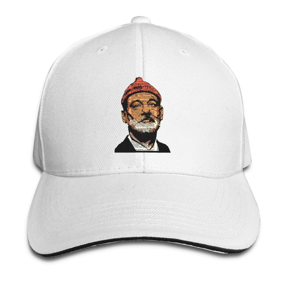 Summer The-Life-Aquatic-with-Steve-Zissou-Bill-Murray Adjustable Sports Hats Sun Hat for Men and Women