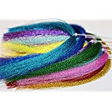 17 Packs Colors Flashabou Holographic Tinsel Fly Fishing Tying Crystal Flash String Fly Tying Materials