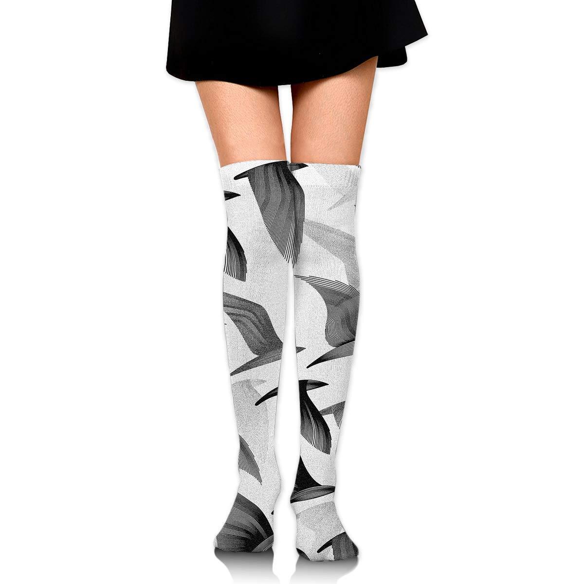 High Elasticity Girl Cotton Knee High Socks Uniform Black Dove Women Tube Socks