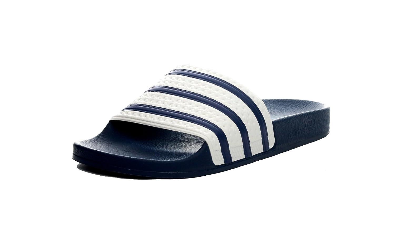 Adidas Adilette - Zapatilla Baja de Sintético Unisex Adulto 38 EU Azul/Blanco Azul/Blanco