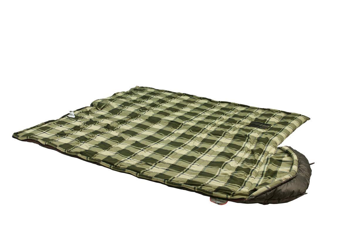 3 Saison Deckenschlafsack f/ür Erwachsene und Familien Outdoor Camping im niedrigen Temperaturen bis zu 0 C 230x100 cm ger/äumig Alexika Siberia Wide Plus Schlafsack warm rechteckig