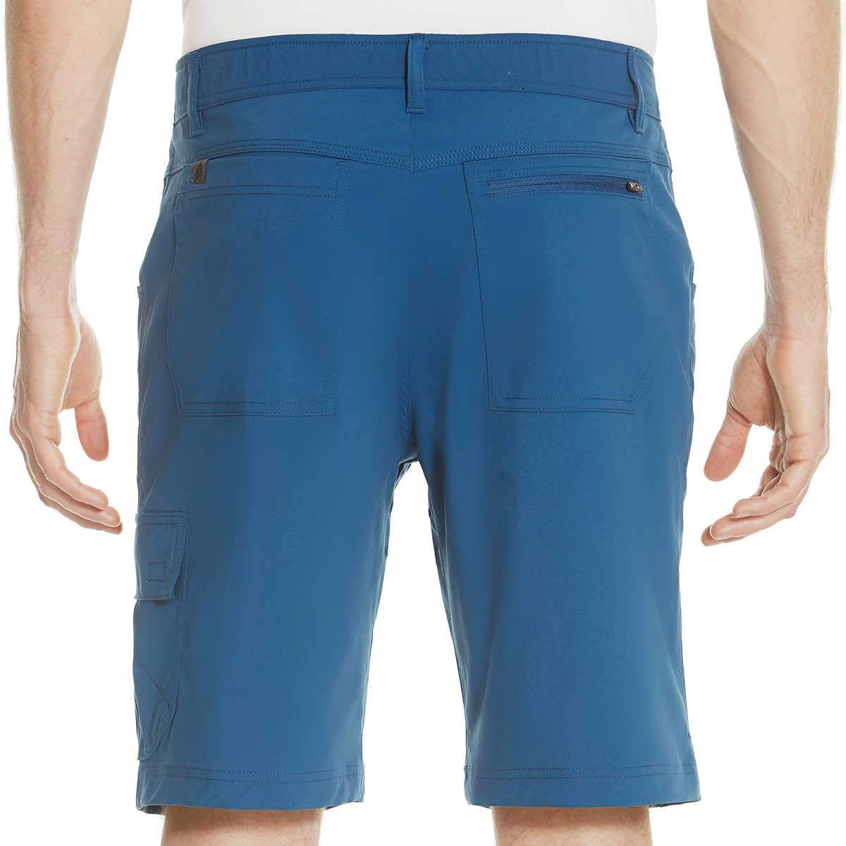 Gerry Men's Venture Flat Front Stretch Cargo Shorts, Variety (Mood Blue, 40) by Gerry