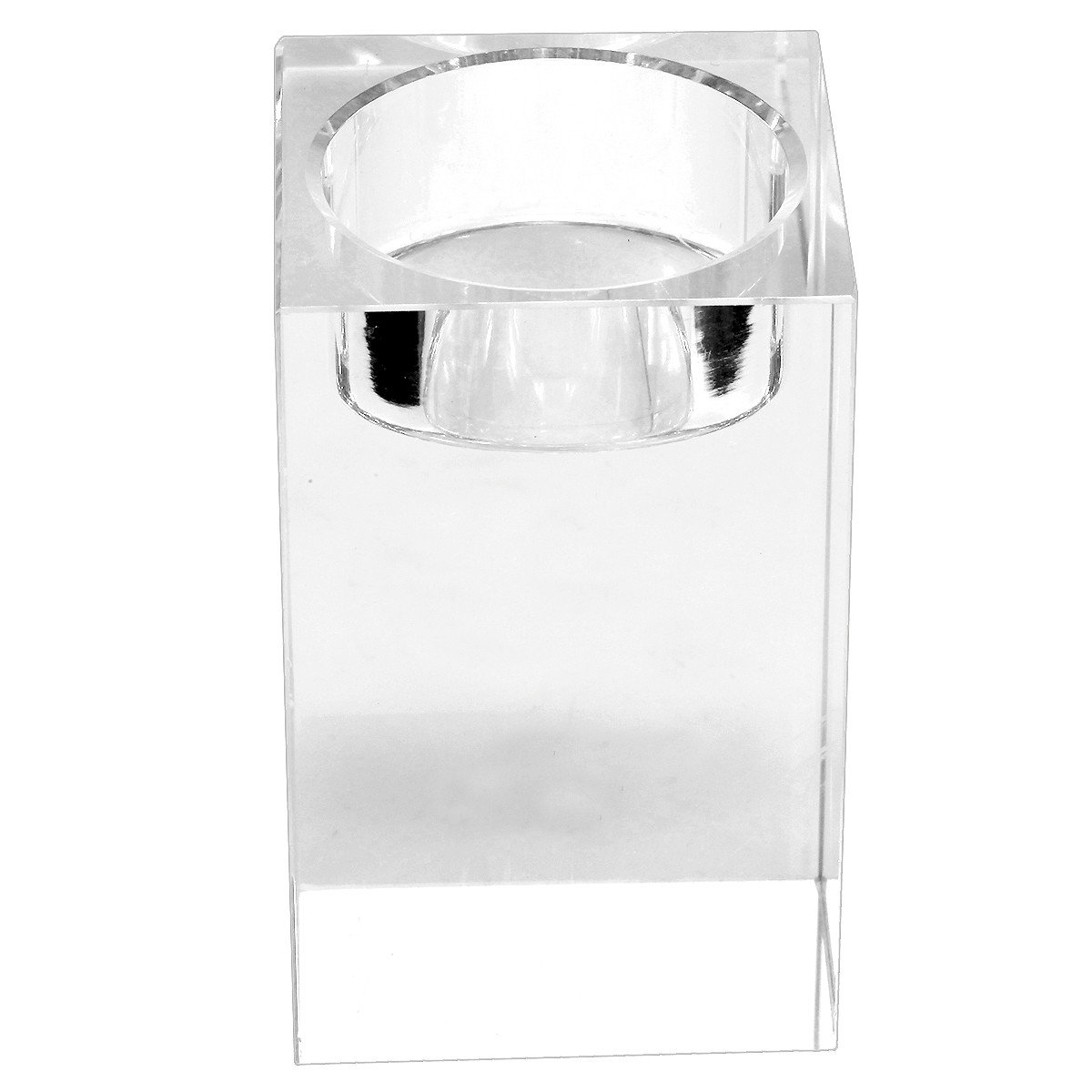 rockcloud Clear Glass Tea Light Candle Holders Candlestick Votive for Wedding Birthday Party /& Home Decoration