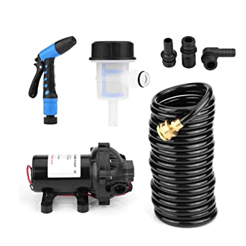 Animals 12V 5.5GPM 70 PSI High Pressure Electric Washing Pump Kit Professional Washer Pump for Car Watering and Camping Window Electric Car Washer