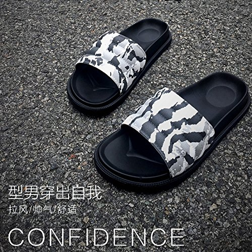 giovane pantofole bianco fankou skid e e camuffamento 41 spessa in nero anti estate leisure donne pantofole pantofole coperta B1RY51x