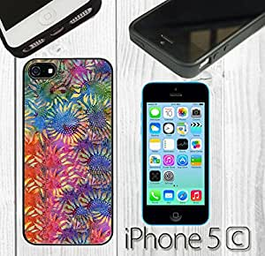 Sunflower Color Custom made Case/Cover/skin FOR iPhone 5C -Black-Rubber Case