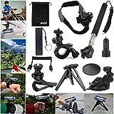 EEEKit 11in1 Travel Kit for Ion Air Pro 2/3 Wifi HD,Bike Handlebar/Helmet/Telescopic Monopod/Tripod/Car/Sun Visor Mount,Power Bank,USB Car Charger