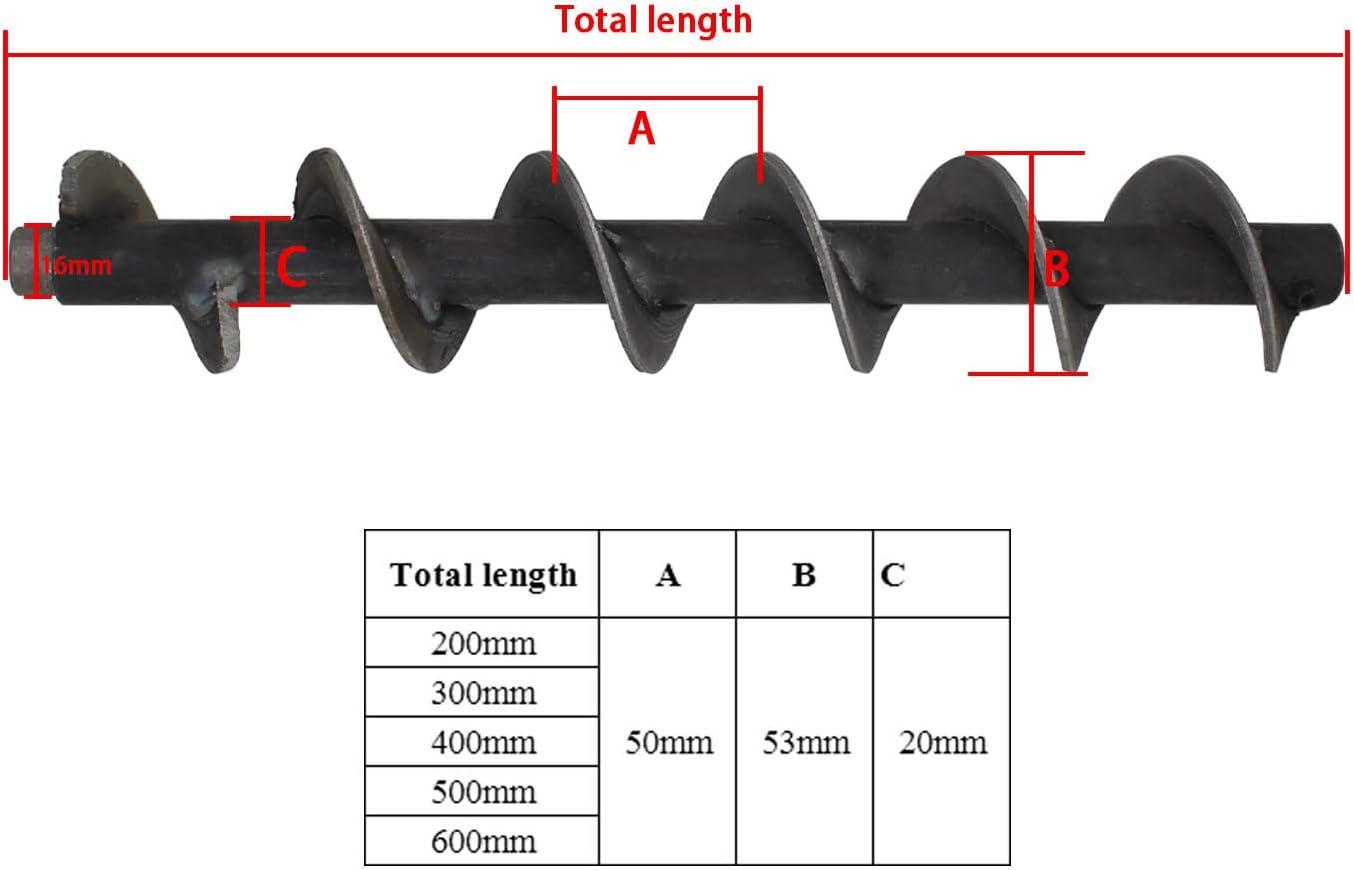 Vis a pellet 200 300 400 500 600mm spirale vis sans fin poele a pellet granul/é Longueur Totale 200mm