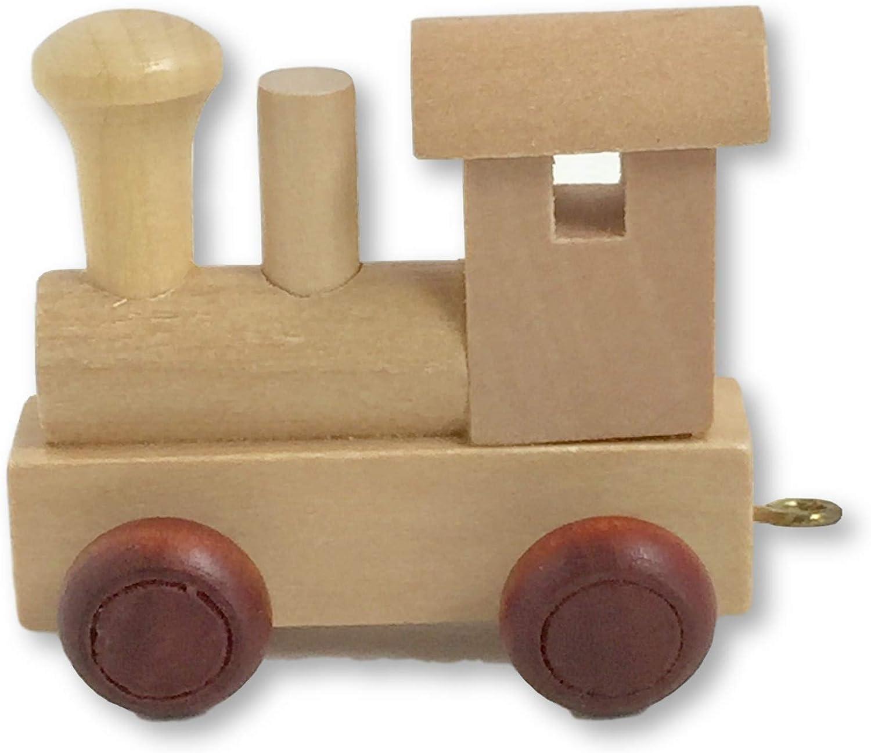 Trenino in Legno a Lettere Nome da A a Z Vagone Locomotiva