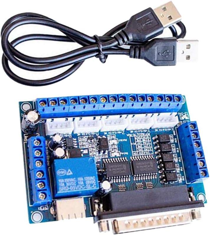 H HILABEE Kit Du Routeur 5 Axes De Commande Num/érique Par Ordinateur Carte De D/érivation De Mach3 5 Axes Carte De Conducteur De Moteur Pas /à Pas