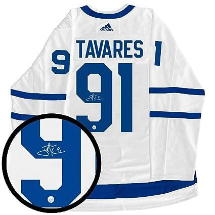 new styles 5a11f 425a8 Signed John Tavares Jersey - Frameworth Pro Adidas White ...