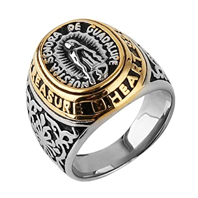 Amazon.com: HZMAN Jewelry - Anillo de acero inoxidable para ...