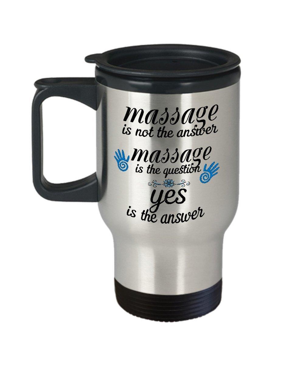 Massage Therapist Travel Mug - Massage Therapy - Massaging Coffee Cup - Thank You Gift - Massage Therapy School - Student Mug – Therapist Travel Cup – LMT Mug – Spa Massage Mug - Stainless Mug