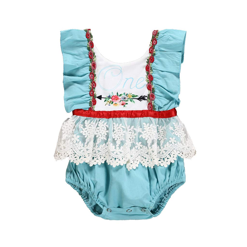Zohto Promotion:Romper Jumpsuit Baby Girl,Summer and Spring Newborn Infant Floral Flower Print Princess Bodysuits
