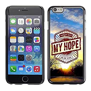 Mldierom Smartphone Protective Case Hard Shell Cover for Cellphone Iphone 6 BIBLE My Hope - Psalm 39:7 /