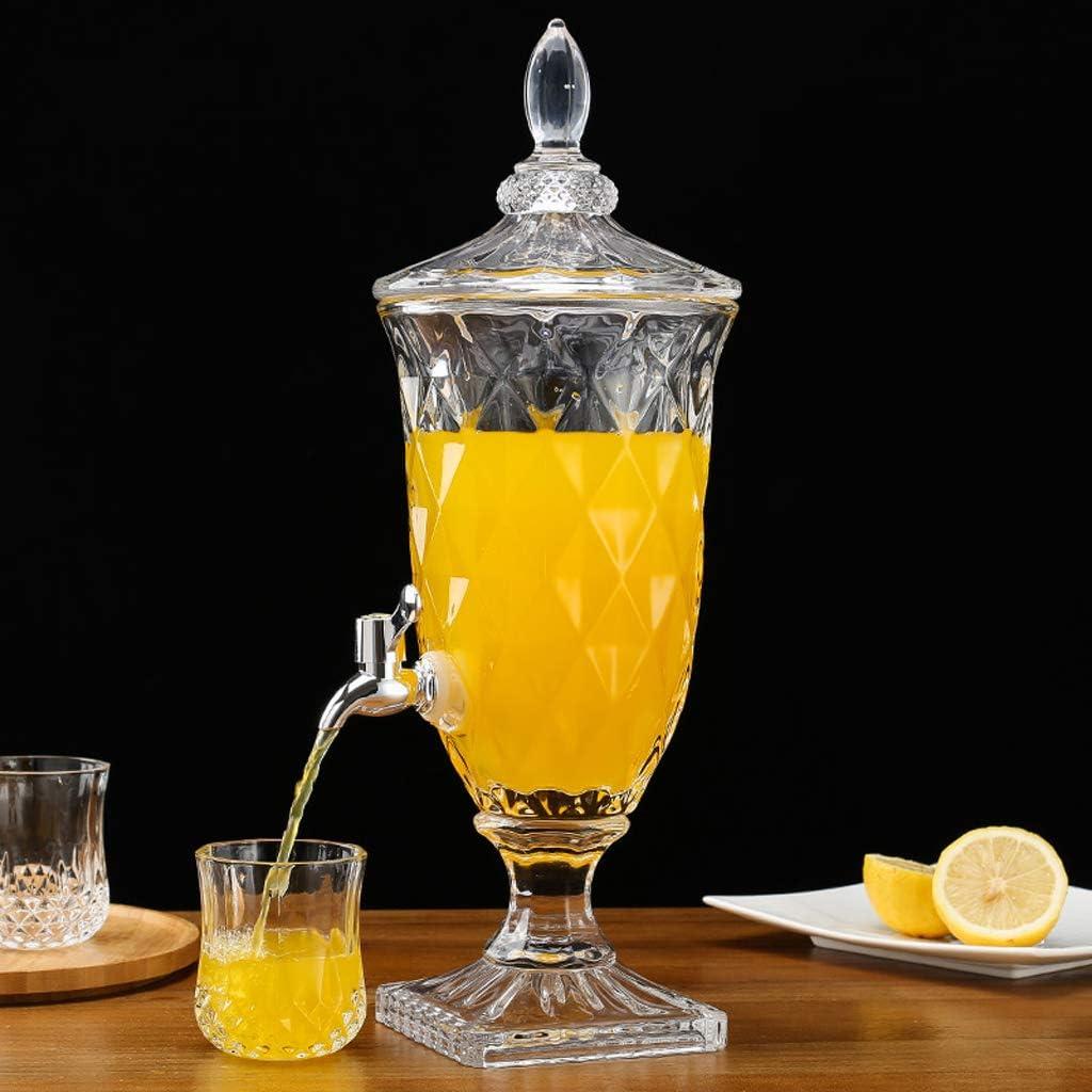 MMM@ Vidrio dispensador de jugo de fruta con grifo de la enzima Botella de Hogares Partido bebida grande del cubo de agua fría Botella Botella de vino Talla Proceso grueso y constante: