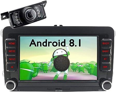 FOIIOE Android 8.1 GPS estéreo de Coche para VW Golf Passat Polo ...