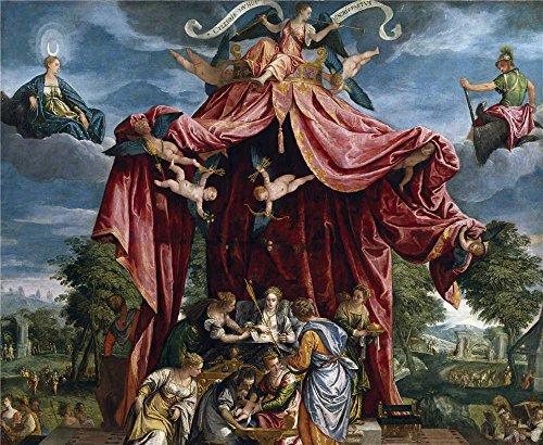 parrasio-michele-alegoria-del-nacimiento-del-infante-don-fernando-hijo-de-felipe-ii-ca-1575-oil-pain