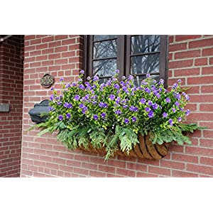 E-HAND Artificial Flowers Outdoor UV Resistant Plants Shrubs Boxwood Plastic Leaves Fake Bushes Greenery for Window Box Home Patio Yard Indoor Garden Light Office Wedding Decor Wholesale-4 Pack 4