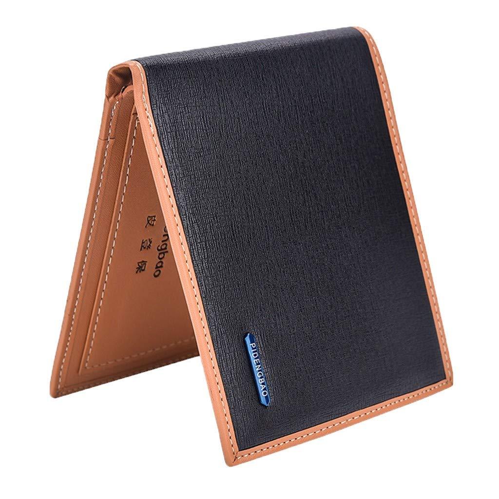 Yvelands Moda Hombre Carteras Monedero Bolsa Monedero Dólar Monedero Money Clip Wallet(12X1X10cm,A): Amazon.es: Ropa y accesorios