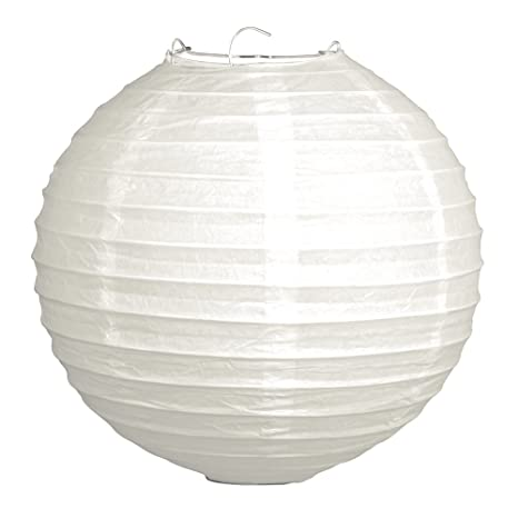 Rayher 87484102 Linterna China con Pantalla de Papel (Color Blanco, 30 cm de diámetro con Estructura de Metal bolsita 1 Pieza