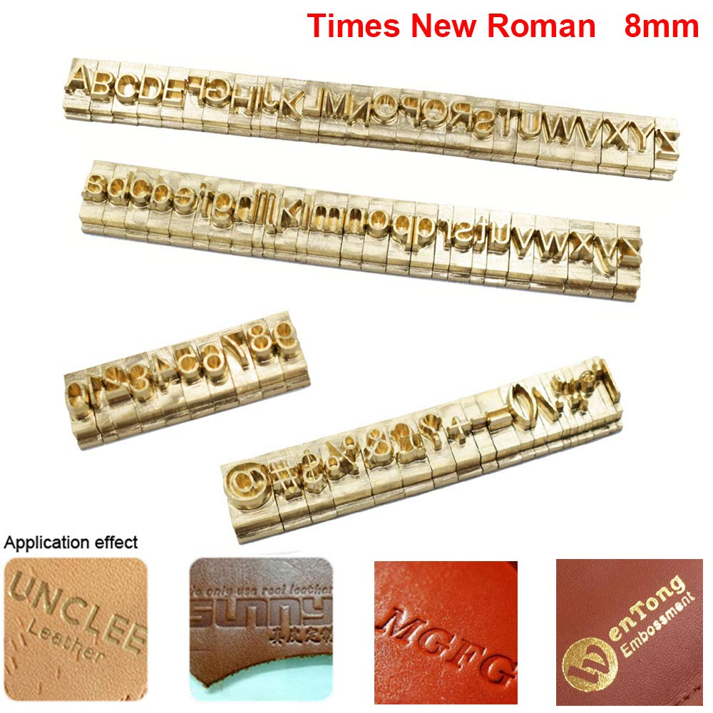 Brass Stamping Die Mold Flexible Letters Numbers Alphabets Symbols DIY Die Stamp Mold for Hot Foil Stamping Machine (Times New Roman)