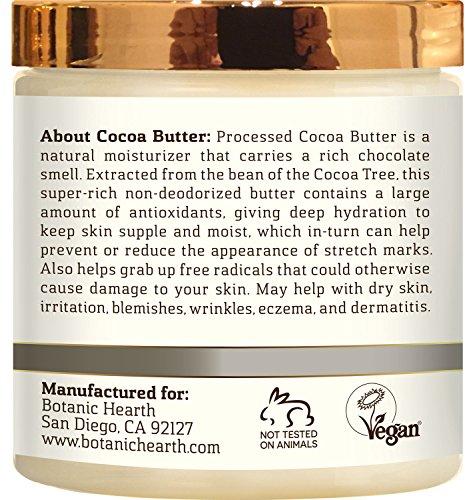 Cocoa Butter from Botanic Hearth, Processed, 100% Pure & Natural, Premium Grade A, 8 oz