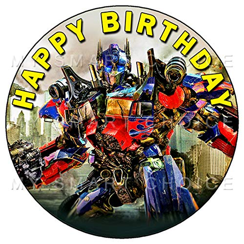 7.5 Inch Edible Cake Toppers - Transformers Themed Birthday Party Collection of Edible Cake Decorations