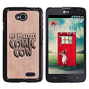 - / Comic Convention Event Text - - Funda Delgada Cubierta Case Cover de Madera / FOR LG Series III L70 / Jordan Colourful Shop/