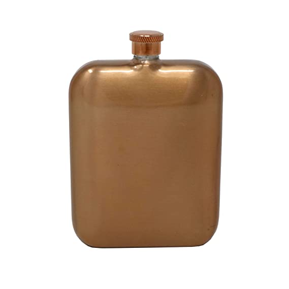 402cdd5a85 Copper Finish 5.5oz Stainless Steel Hip Flask